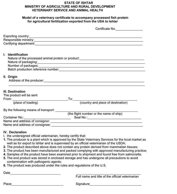 Export Certification:Letterhead Certificate on VS Letterhead