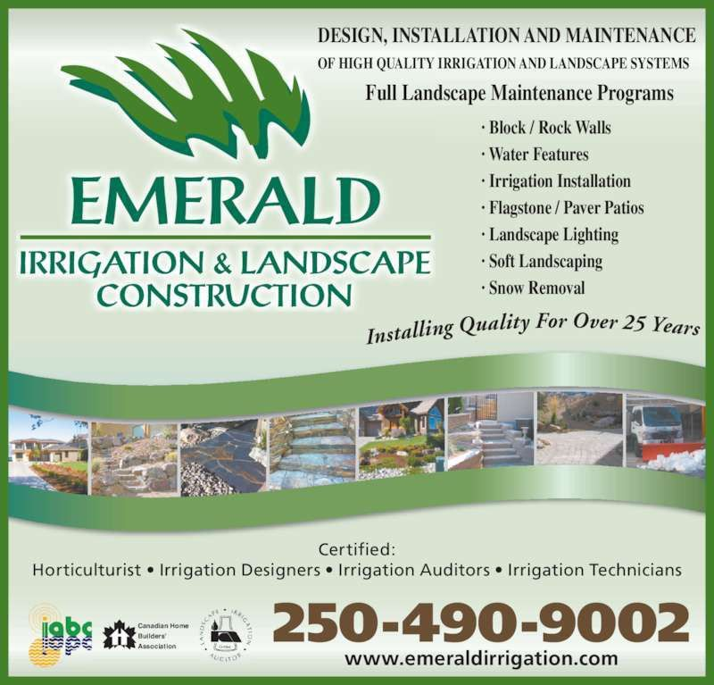 Emerald Irrigation & Landscaping - Penticton, BC - 840 Barrington ...