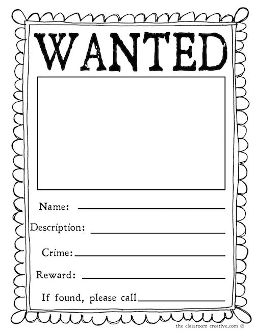 10 Best Images of Most Wanted Poster Template - Free Printable ...