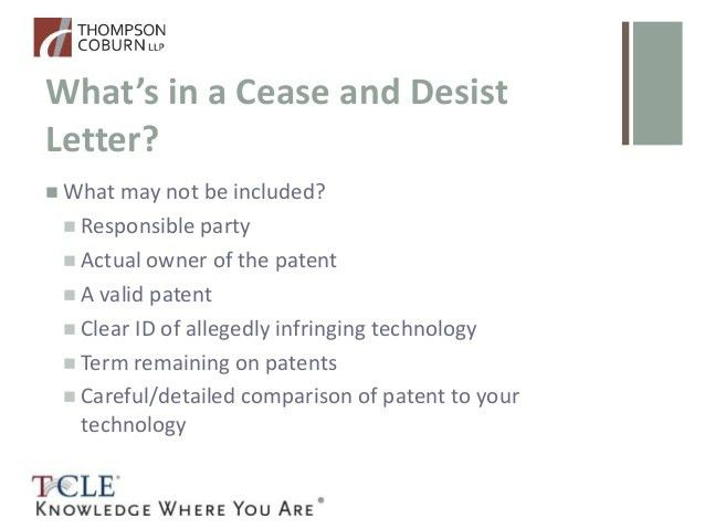 So you got a patent cease and desist letter. Now what?