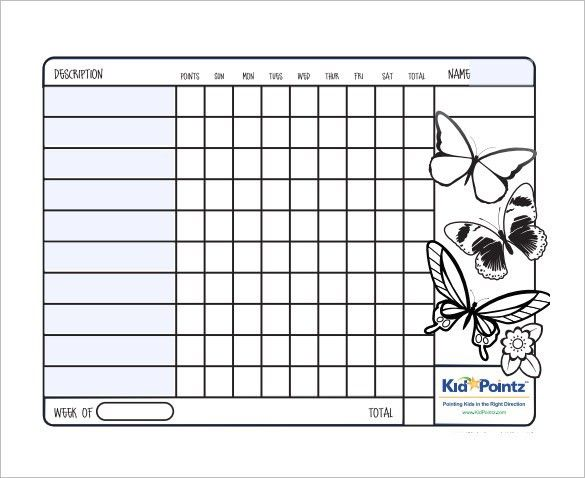 Behavior Chart Template – 11+ Free Word, Excel, PDF Format ...