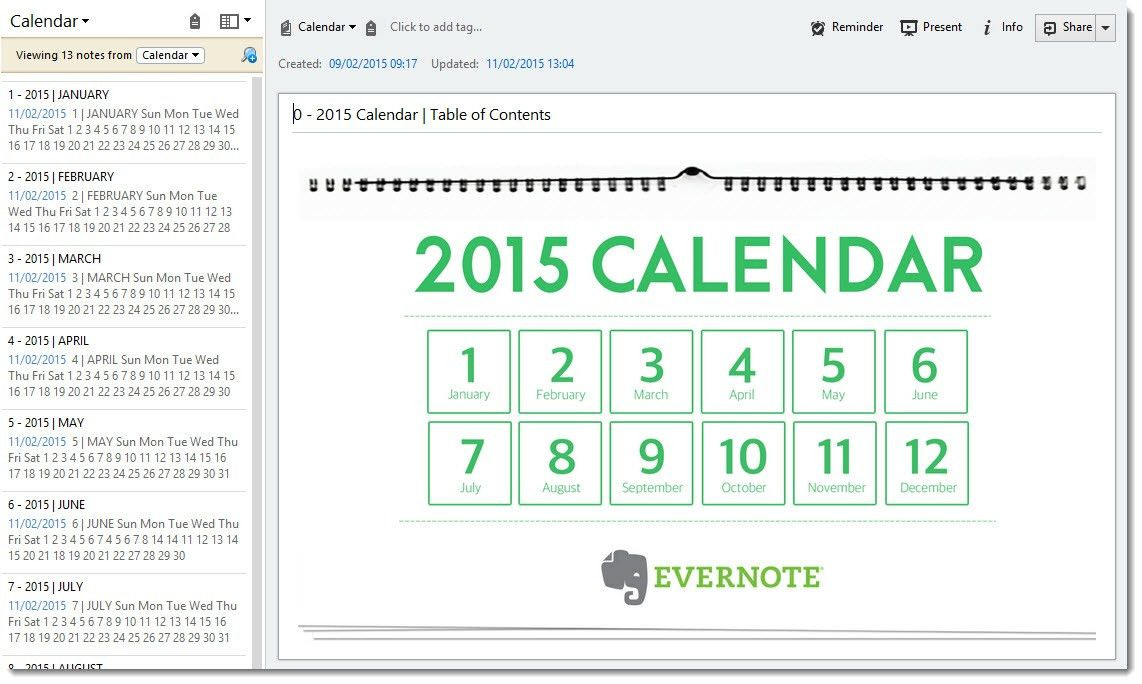 How to create a planner with the Evernote calendar template - Dr ...
