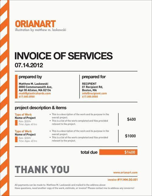 53 best Invoice images on Pinterest | Invoice template, Invoice ...