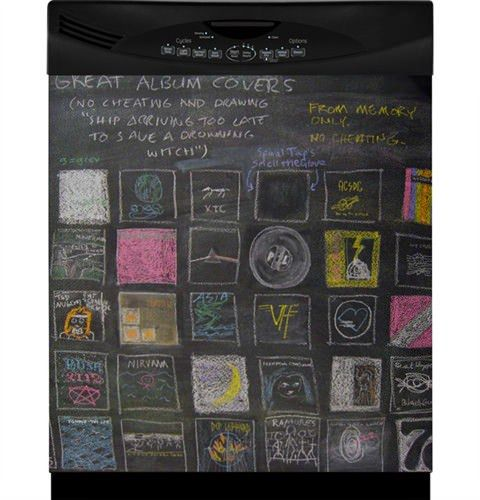 Chalkboard Dishwasher Art Cover
