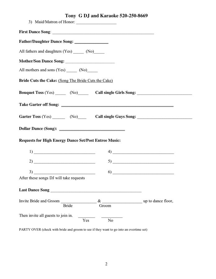 DJ Contract in Word and Pdf formats - page 2 of 2