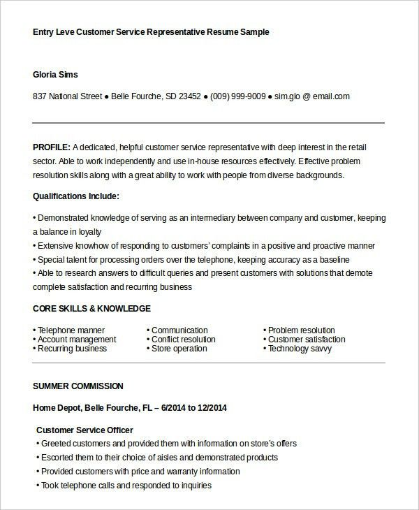 Customer solutions representative resume