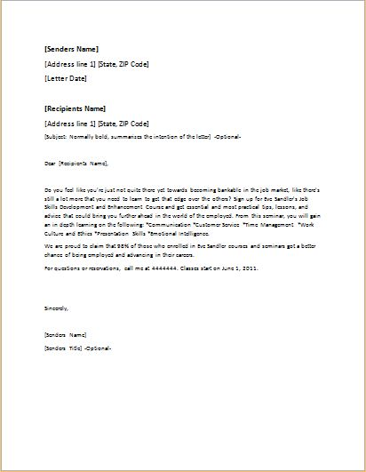 Event Invitation Letter Template for WORD .doc | Formal Word Templates