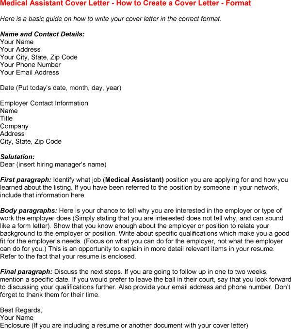 example of medical assistant cover letter