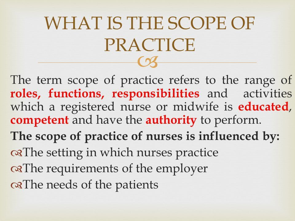 The scope of nursing practice - ppt video online download