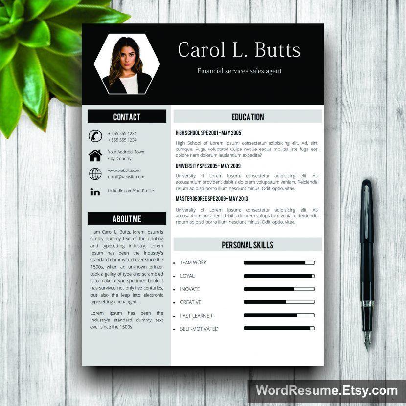 Buy Resume Templates BeautifulResumeTemplates 600×600 | Resume ...