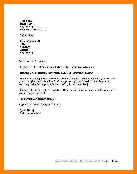5+ immediate resignation letter template   emt resume