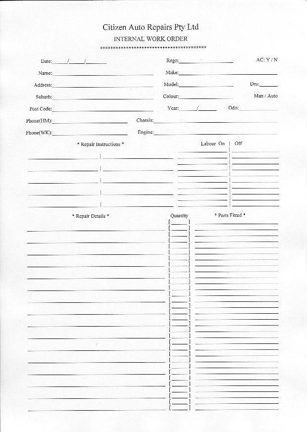 Job Sheets