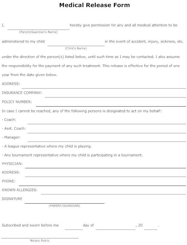 Release Form Sample images - release form | Legal Documents ...