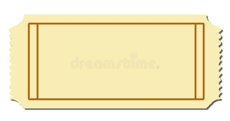 Blank Ticket Stock Photo - Image: 5309690