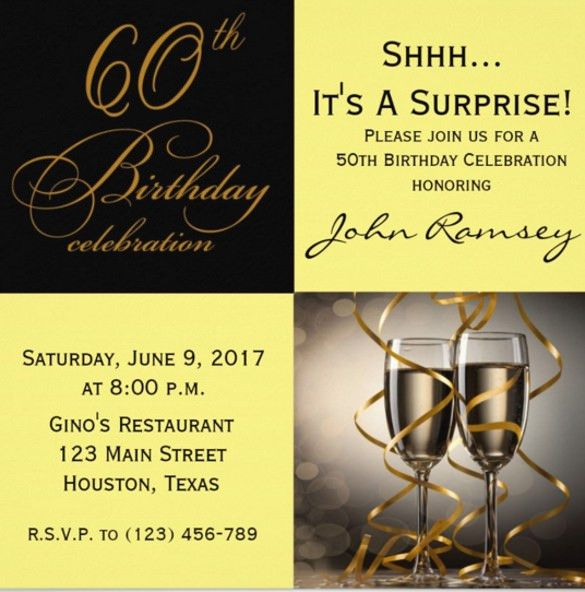 60th Birthday Invitation Templates – 19 + Free PSD, Vector EPS, AI ...
