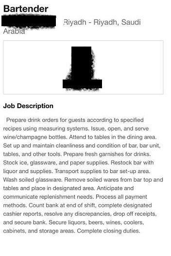 A bartender in Saudi? Hotel posts job 'by mistake' - Al Arabiya ...