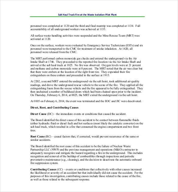 Investigation Report Template – 12+ Free Word, PDF Documents ...