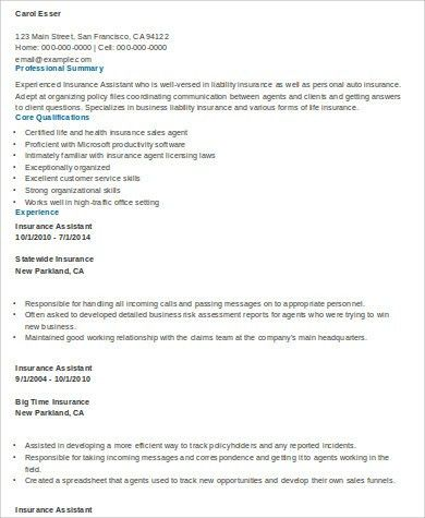 Independent Insurance Agent Cover Letter