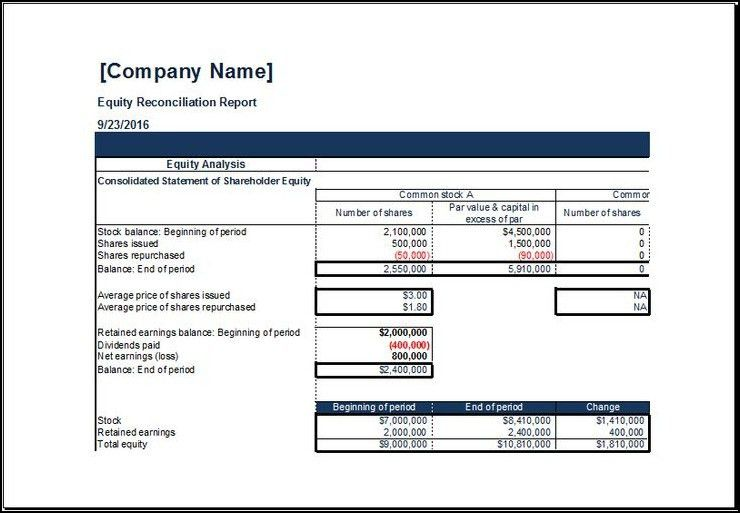 Payroll Reconciliation Excel Template Bank Reconciliation Example ...
