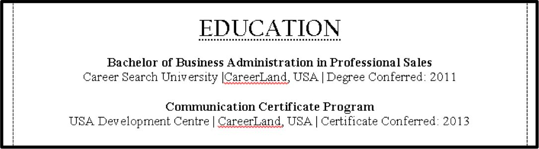 education section of resume no degree best online resume education ...