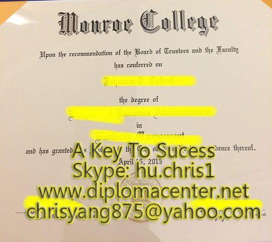 Buy Monroe college degree certificate, 2015 graduation_buy a ...