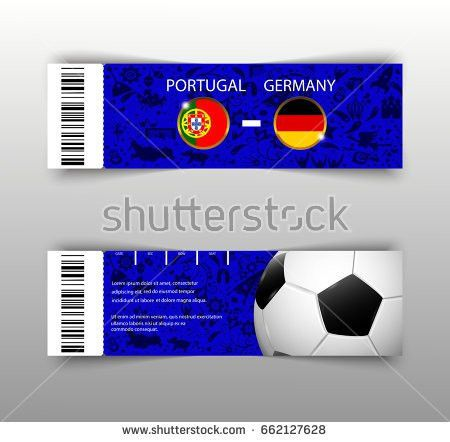 Eps 10 Vector Football Ticket Layout Stock Vector 662127598 ...