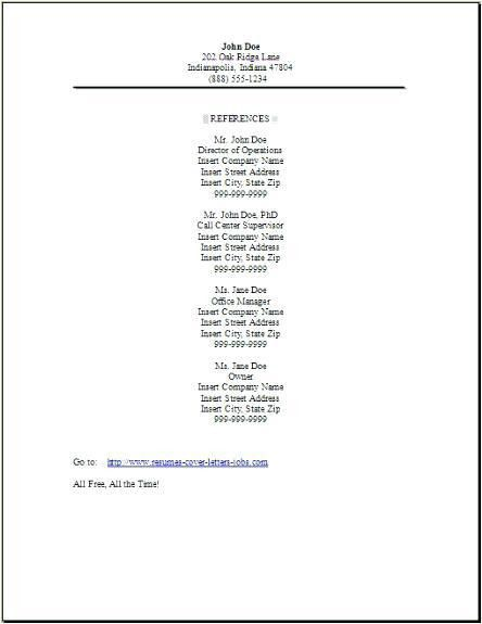 Reference List Template. reference list template 10 free word ...