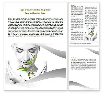 Bio Cosmetics Word Template 07032 | PoweredTemplate.com