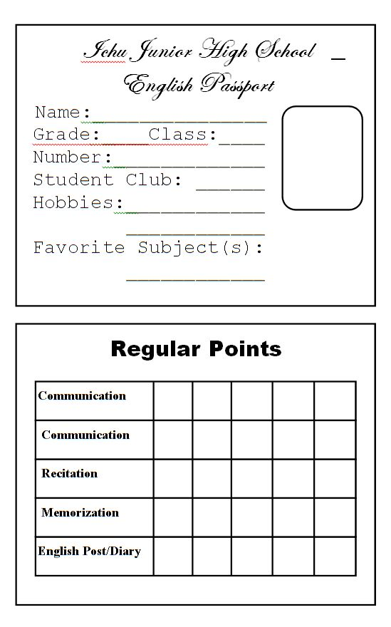 Passport template for school project - ophsteakrocksy49's soup