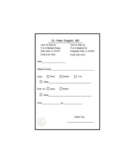 Fake Doctor's Notes Templates - Fast, & Fun! | Fake Doctor's Notes ...
