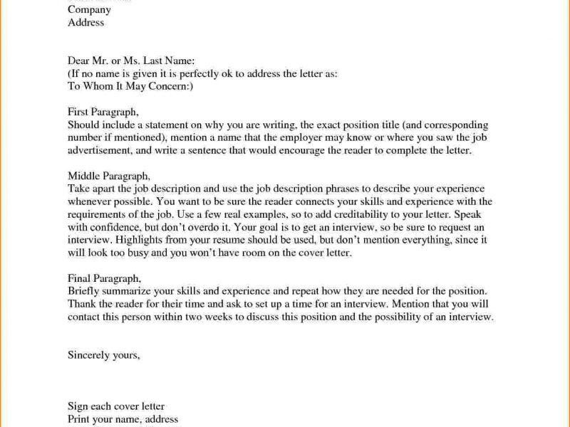Impressive How To Address A Cover Letter Without Contact 2 With No ...