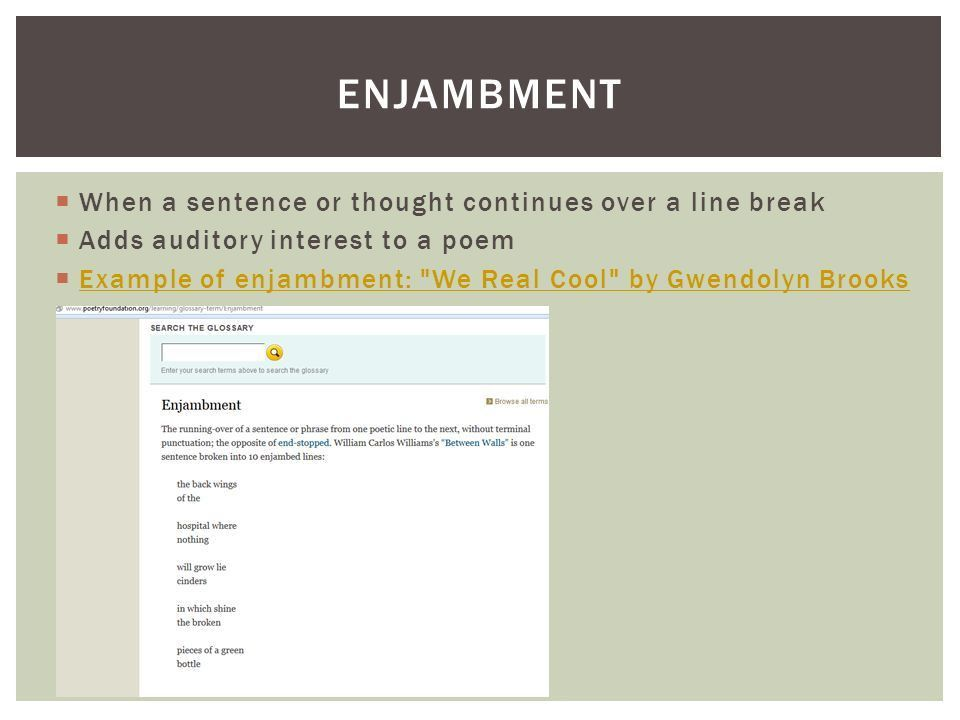 UNDERSTANDING POETIC STRUCTURE. QUESTIONS FOR ANALYSIS: 1.What do ...