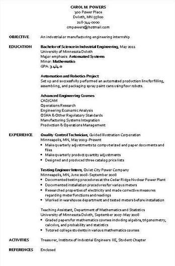Industrial Engineer Resume Sample | Resume Writing Service