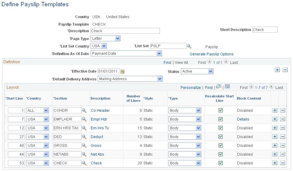 6+ Payslip Templates - Word Excel PDF Templates