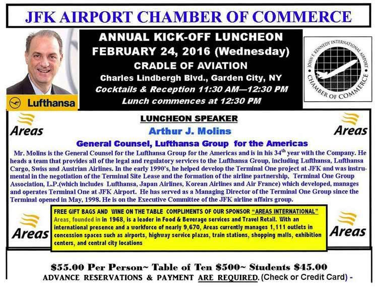 JFK Airport Chamber of Commerce > Page 4 of 12 >