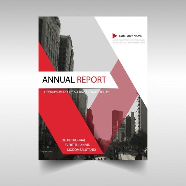 Red annual report cover template Vector | Free Download
