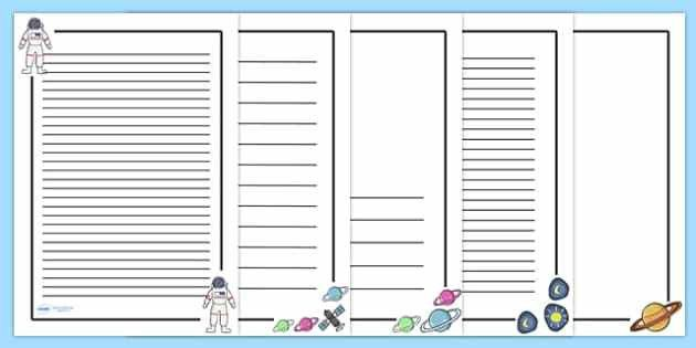 Space Themed Page Borders - Page border, a4 border, template