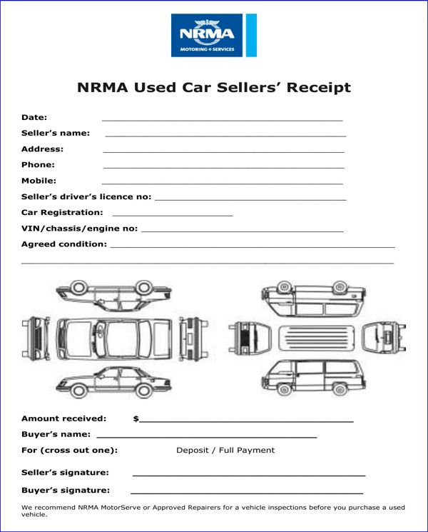 Download Used Car Receipt Template | rabitah.net