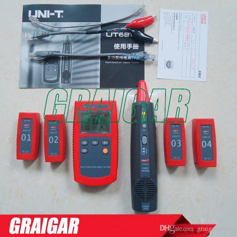 Multi-Function Cable Finder Set UNI-T UT681A Portable Network LAN ...