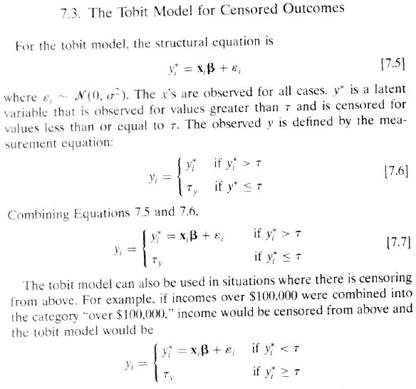 The Use of Tobit and Truncated Regressions for Limited Dependent ...