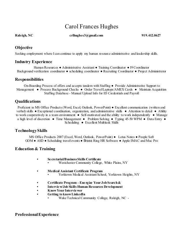 Carol Frances Hughes - resume (1)