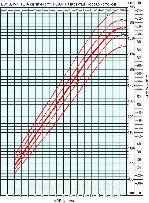 boy height chart