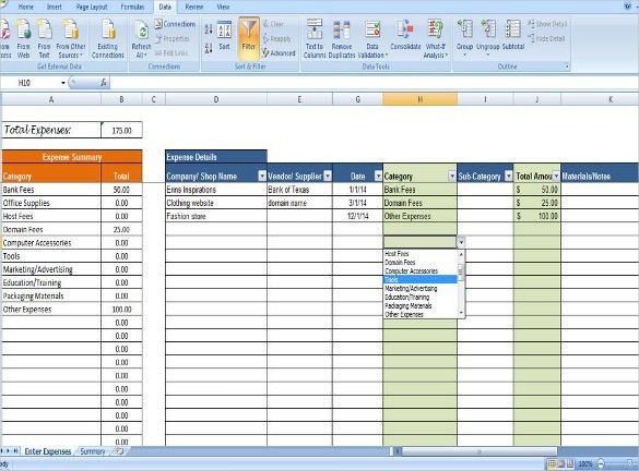 Sample Expense Sheet. Permalink To Expense Report Spreadsheet ...