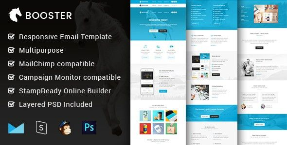 Booster - Multipurpose & Responsive Email Template + Builder by ...