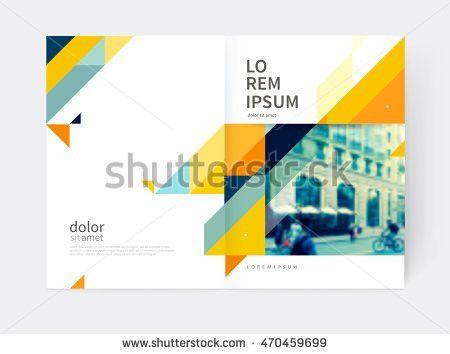 Minimalistic White Cover Brochure Design Booklet Stock Vector ...