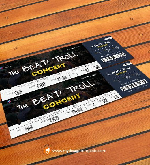 party ticket template free Archives - My Design Template