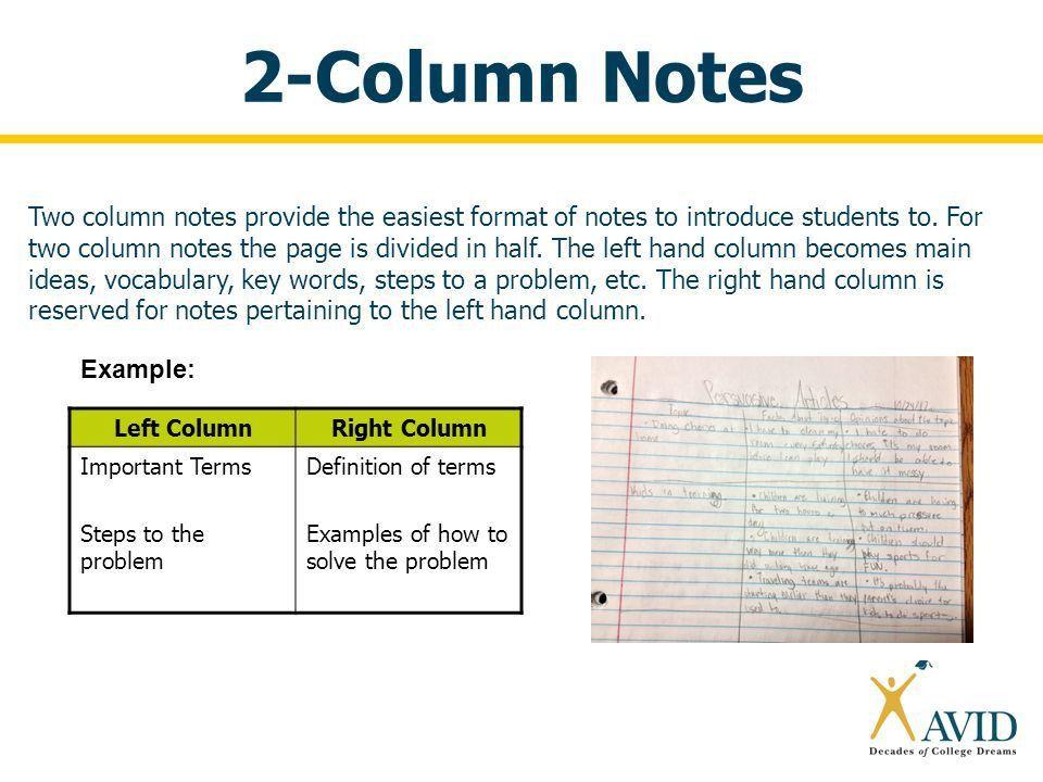 2 Column Notes Template - Contegri.com