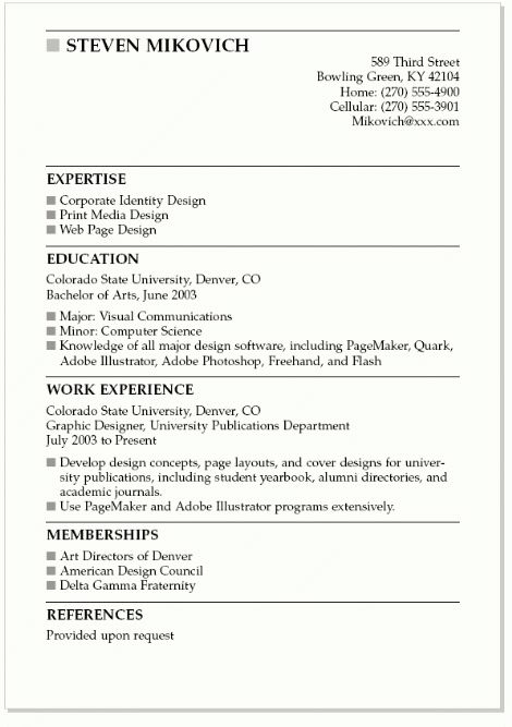 Sample Esthetician Resume New Graduate - http://www.resumecareer ...