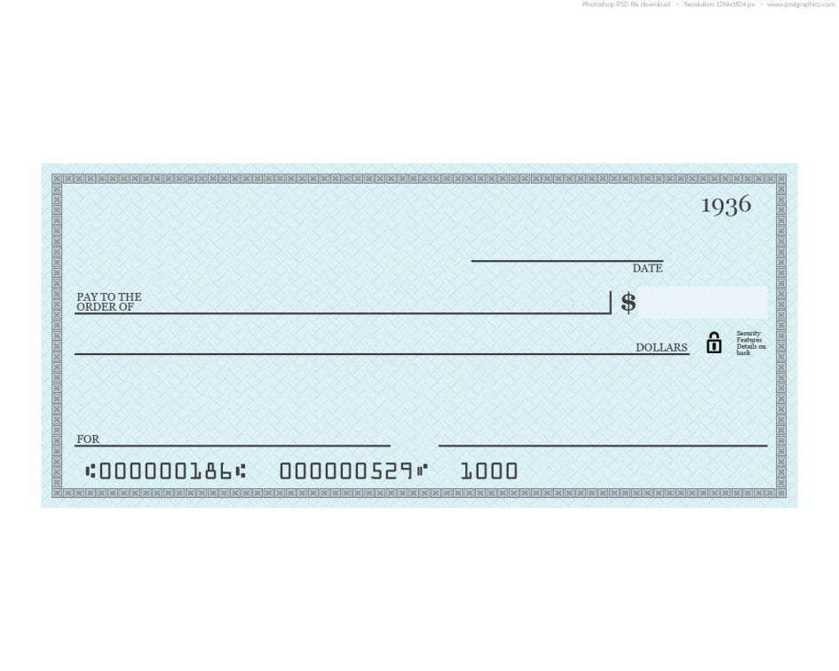 Checks Template Payroll Check Template Free Free Business Check ...
