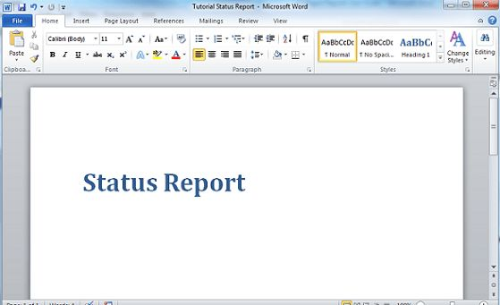Tutorial: Creating a Report Template